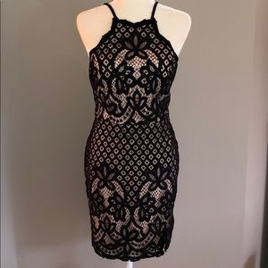 NWT Jodi Kristopher Black Crochet Lace Dress